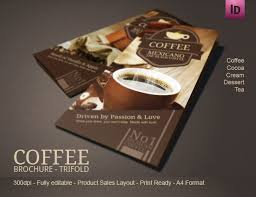 11 best coffee tri fold brochure template images on pinterest