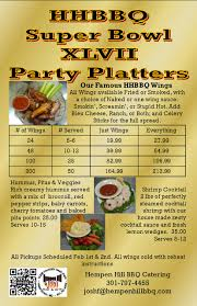 super bowl party platters hempen hill bbq
