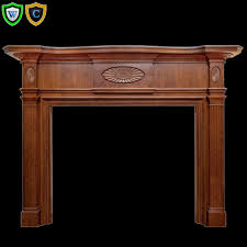 colonial stain grade wood fireplace mantel design