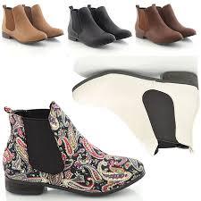 womens boots no heel womens low heel flat chelsea vintage pixie booties