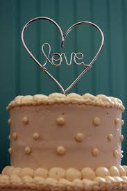 heart wedding cake toppers whole lotta wire heart wedding cake topper 2135637 weddbook
