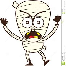 angry halloween mummy feeling furious and protesting stock vector