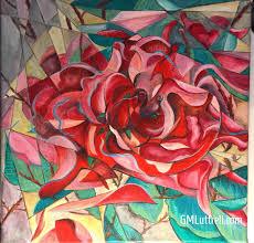 cubism flower painting cubistart hashtag on