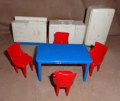 free ship vintage plasco dollhouse furniture kitchen stove fridge