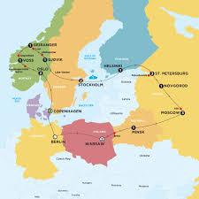russia map belarus scandinavia russia tour europe contiki