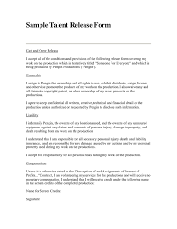 talent release form download free documents for pdf word and excel