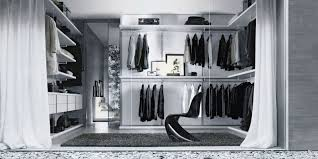 simple walk in wardrobe designs with with clean lines wooden
