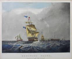 nautical maritime ship framed engraving h papprill after s