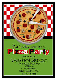likable printable pizza party invitation template birthday party