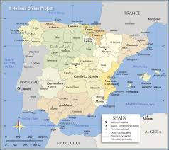 Map Of Seville Spain by Administrative Map Of Spain Nations Online Project