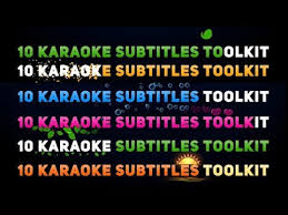 karaoke titles toolkit after effects template youtube