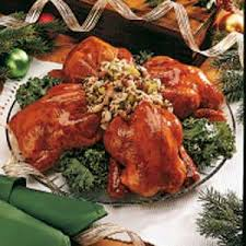 currant glazed cornish hens recipe taste of home