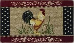 Round Rooster Rug Rug