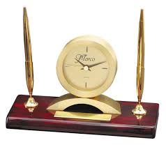 Wood Desk Clock Wood Desk Clocks Quality Wooden Desk Clocks Desk Clock U0026 Pen