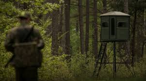 Ghost Hunting Blinds My Buddy Eric In Front Of Our Elevated Deer Hunting Blind This Is