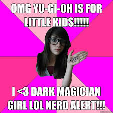 Yugioh Black Guy Meme - omg yu gi oh is for little kids i 3 dark magician girl lol