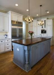Blue Kitchen Island Entrancing Gray Color Wooden Kitchen Island With Columns Features