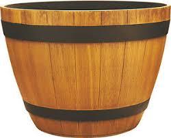 southern patio hdr wine barrel planter ebay