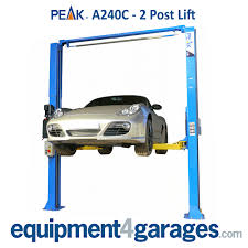 amgo peak hi spec 2 post vehicle lift e4g a240 car lift