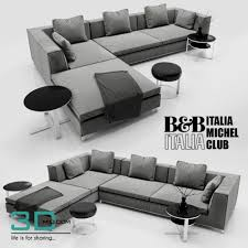 201 sofa b u0026b italia michel 3d mili download 3d model free