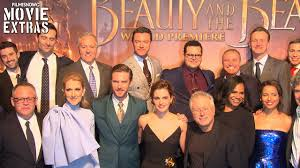 and the beast premiere with cast