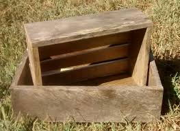 nested reclaimed wood crates 10x7 5 u0026 12x9 planter boxes
