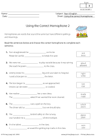 76 free homophones worksheets