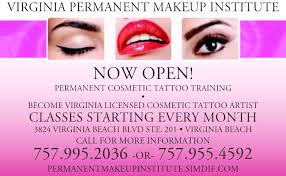 makeup classes in va cosmetic tattoos in virginia va 757 995 2036 virginia