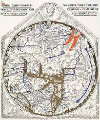 Medieval England Map by Hereford Mappa Mundi The World U0027s Oldest Surviving Wall Map And