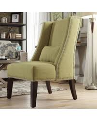 Wingback Accent Chair Deal Alert St Alden Wingback Accent Chair In Yellow Linen