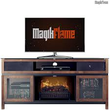 heracles chocolate media center electric fireplace wall mantel tv