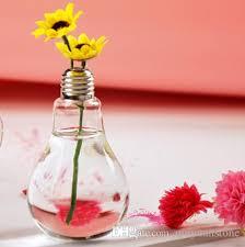 diy creative bulb flower vases home decoration glass vases