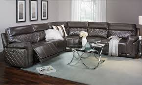 quilted italian leather power reclining sectional the dump
