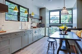 Painted Metal Kitchen Cabinets Metal Kitchen Cabinets Kitchen Contemporary With Patio Door