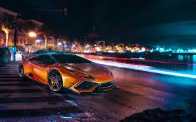 cars lamborghini 2017 lamborghini huracan car lamborghini orange long exposure