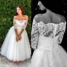 low cost wedding dresses discount vintage ankle length wedding dresses half sleeve