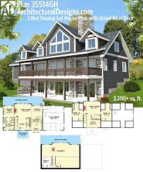 house plans sloped lot 69 best homes for the sloping lot images on