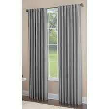 Single Window Curtain by Shop Allen Roth Glenellen 84 In Coal Polyester Back Tab Light