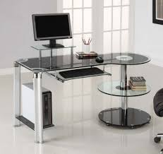 furniture home office design ideas with corner glass computer