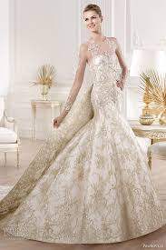 gold wedding gown wedding dress with gold lace sang maestro