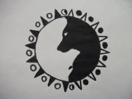 wolf yin yang design
