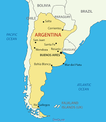 Blank Political Map by Argentina On A Map My Blog