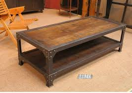 Custom Coffee Table by Double Coffee Table Custom Industrial Loft Old American Country