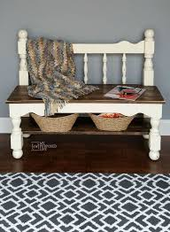 white twin bed headboard bench hometalk