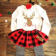 infant thanksgiving clothes baby buffalo plaid christmas toddler winter