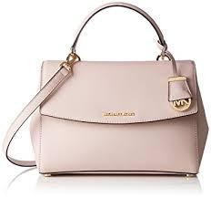 light pink michael kors handbag michael kors womens ava satchel light pink amazon co uk shoes bags