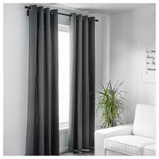 Black And Gray Curtains Merete Curtains 1 Pair 57x98 Ikea