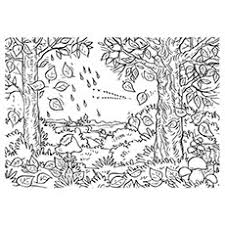 fall scenery coloring pages coloring