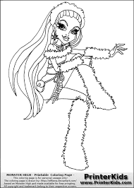 monster high coloring pages baby abbey bominable monster high spectra coloring pages getcoloringpages com
