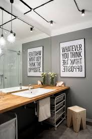 Powder Room Decor All Photos Home Design Stunning Modern Industrial Apartment With Powder Room